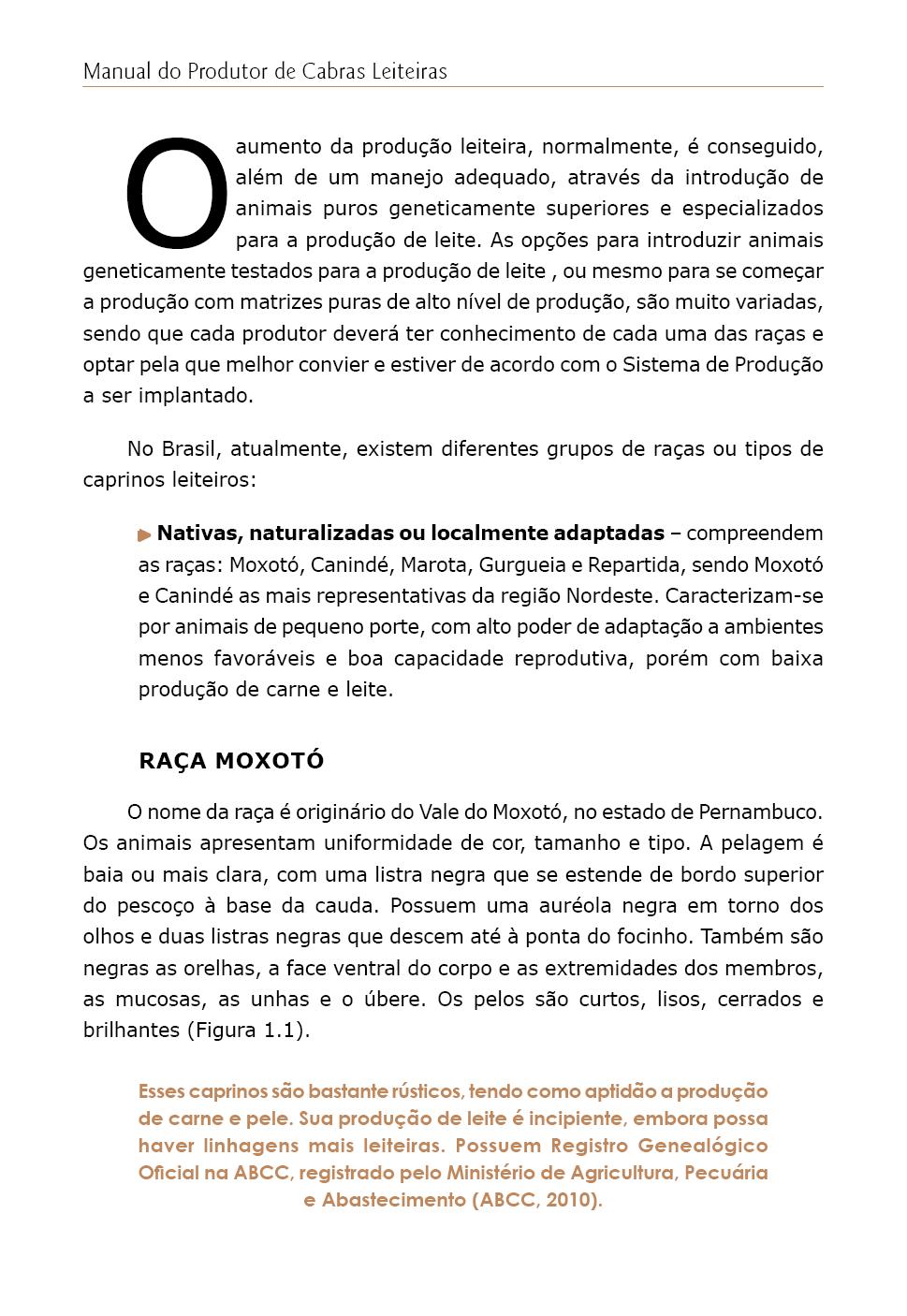 Manual do Produtor de Cabras Leiteiras