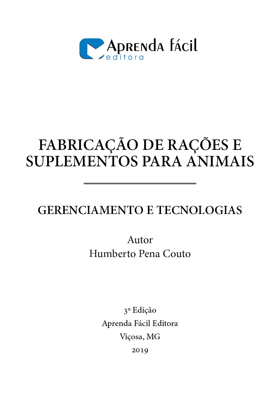 Fabricação de Rações e Suplementos para Animais - Gerenciamento e Tecnologias