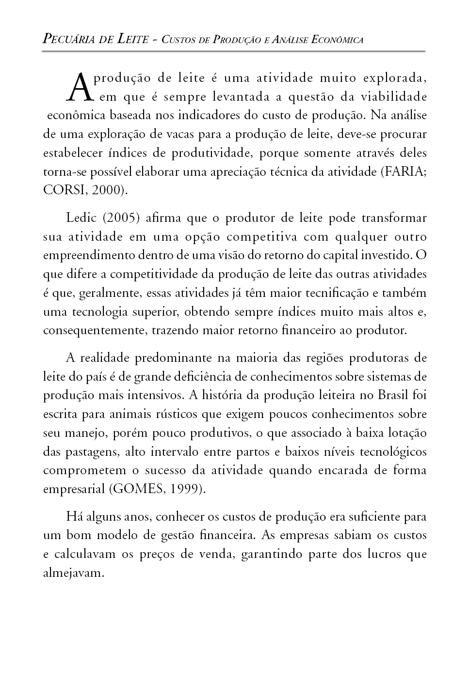 Pecuária de Leite - Custos de Produção e Análise Econômica