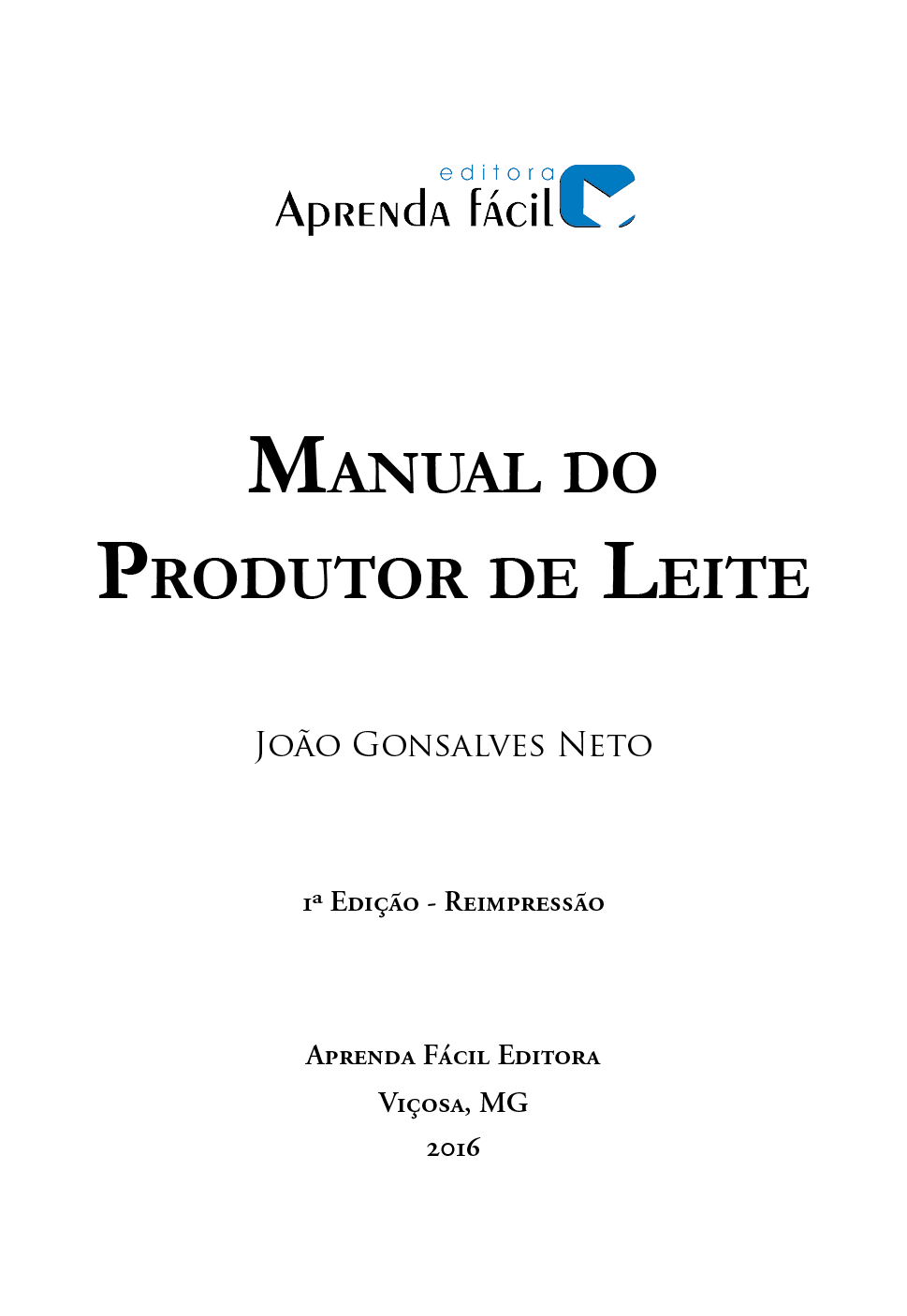 Manual do Produtor de Leite