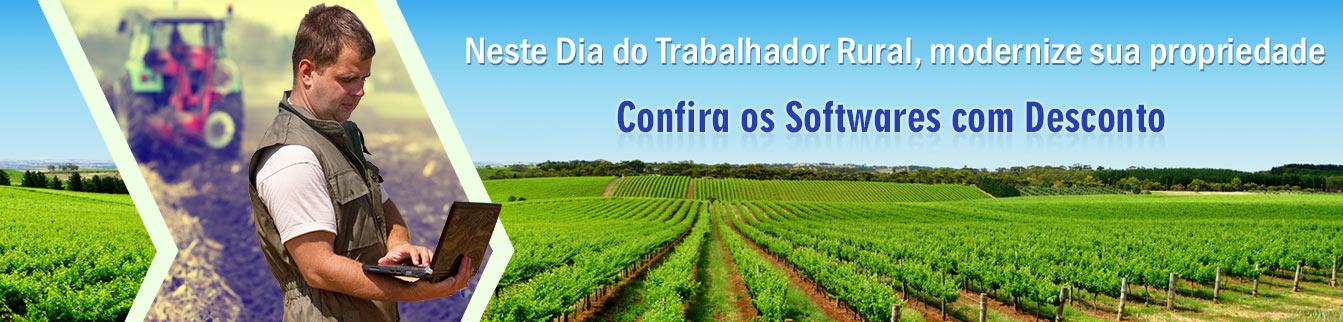 Dia do Trabalhador Rural, modernize sua propriedade. Confira os Softwares com Desconto