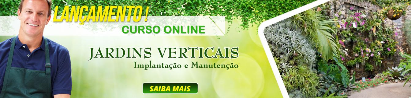 Curso Online Jardins Verticais implantação e manutenção