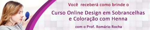 Acompanha este Curso o Módulo Extra Design em Sobrancelhas e Coloração com Henna com o Prof. Romário Rocha